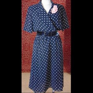 THE LIMITED VTG navy dress 10 w/DEFECT